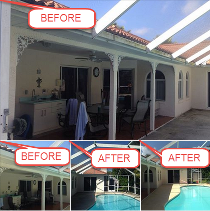 Mr Pressure Washer Daytona Beach Florida external pressure cleaning patios with interior & exterior window soft clean,